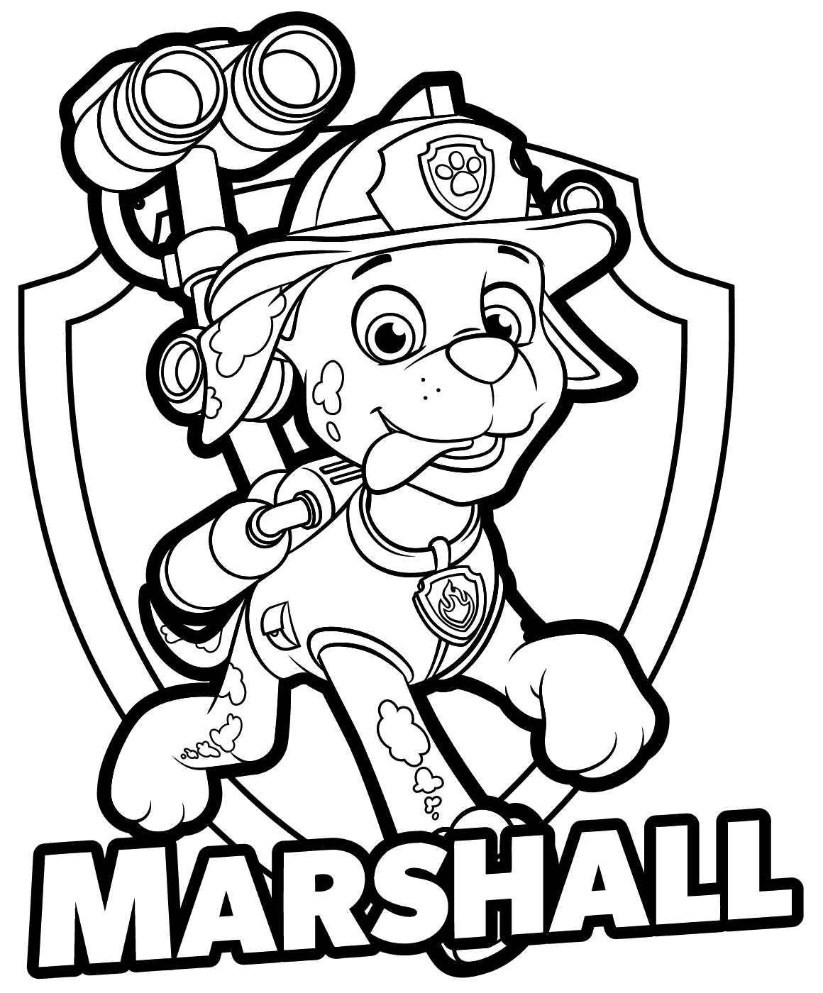 Marshall Paw Patrol Drawing at GetDrawings.com | Free for personal ...