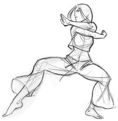 Martial Art Drawing