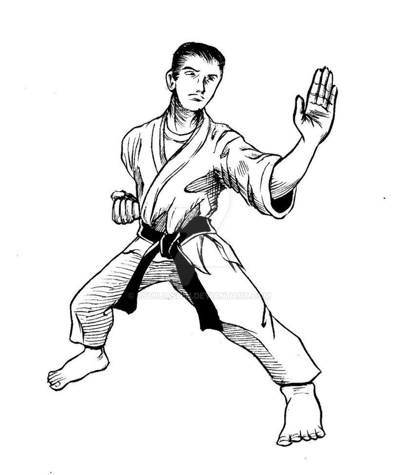 819x975 Martial Arts Figure Drawing By Ryuujashin