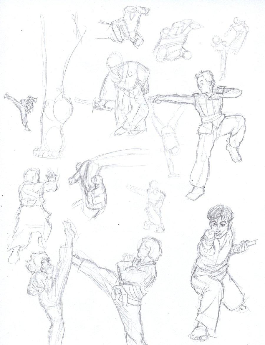900x1171 Martial Arts Sketches By Alexandriamonik