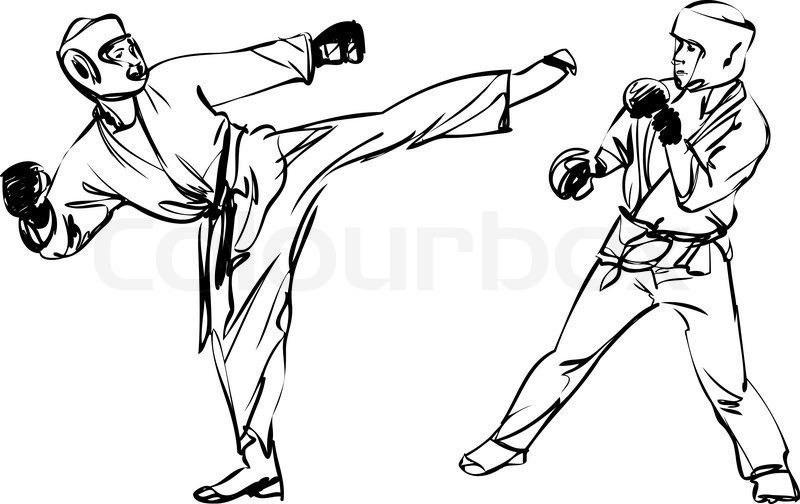 800x504 Karate Kyokushinkai Sketch Martial Arts And Combative Sports
