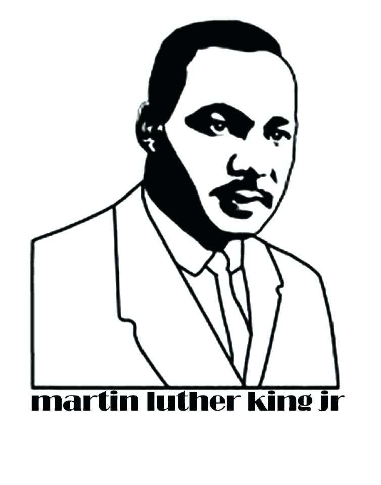 754x960 Coloring Pages For Martin Luther King Jr Martin King Jr Coloring