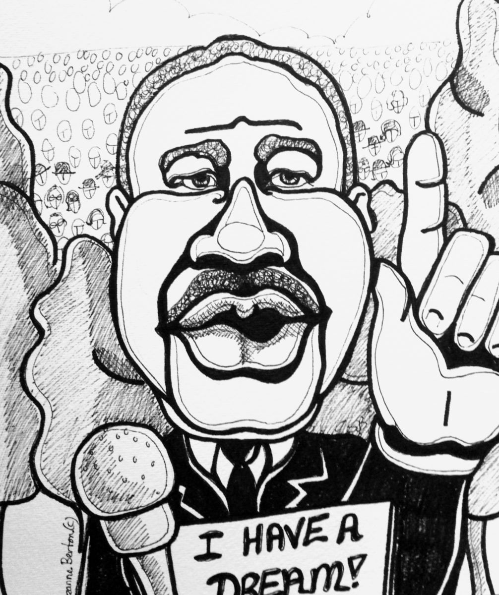1006x1200 Martin Luther King, Jr's I Have A Dream Caricature (Suzanne Berton)