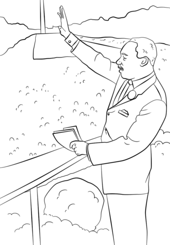 333x480 Martin Luther King I Have A Dream Coloring Page Free Printable