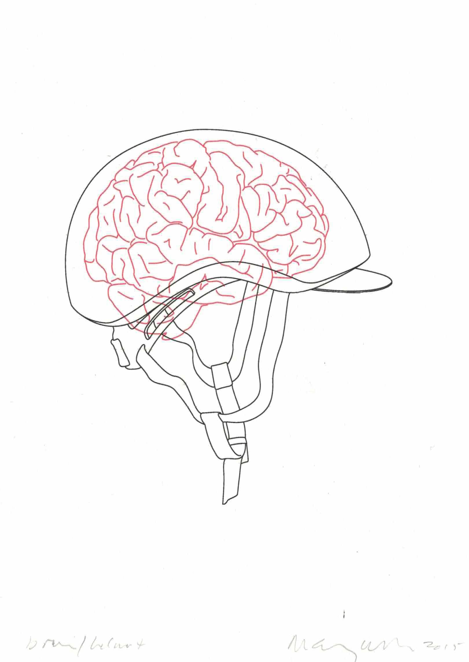 1621x2289 Michael Craig Martin Brainhelmet Drawing Biennial 2015