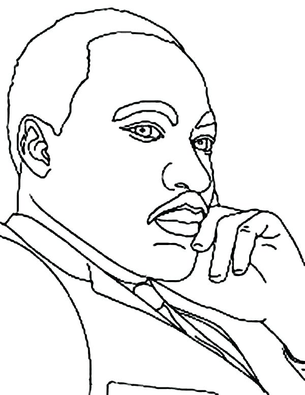 600x777 School Student Drawing Martin King Coloring Page Dr Luther Jr