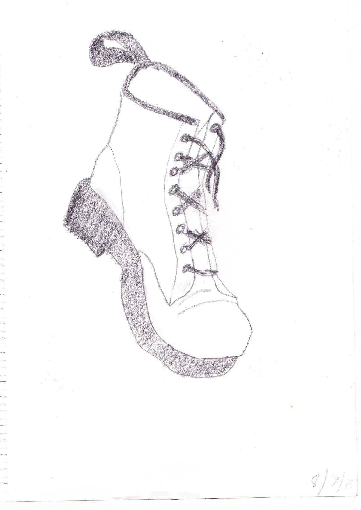 1240x1753 Drawing Of Doc Martin Boot Clareofrank