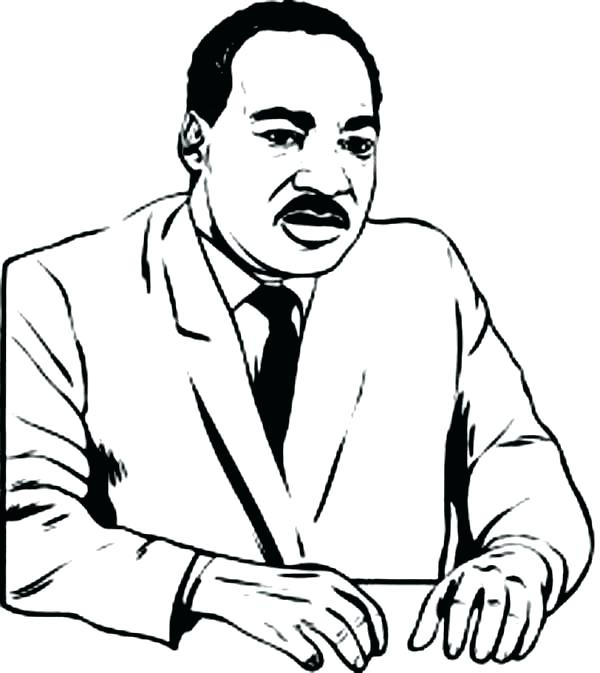 600x673 School Student Drawing Martin King Coloring Page Dr Luther Jr