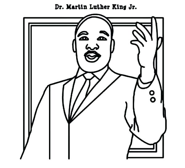 dr king coloring pages printable - martin luther king drawing at free for