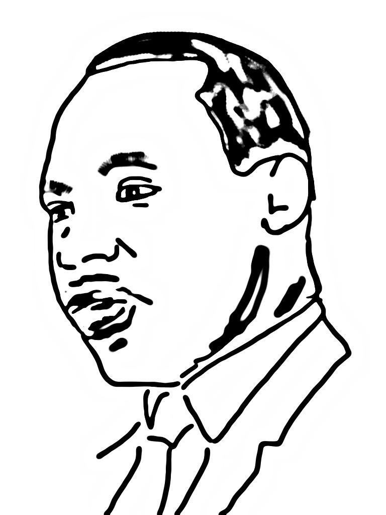 Fantástico Página Para Colorear De Martin Luther King Jr Galería ...