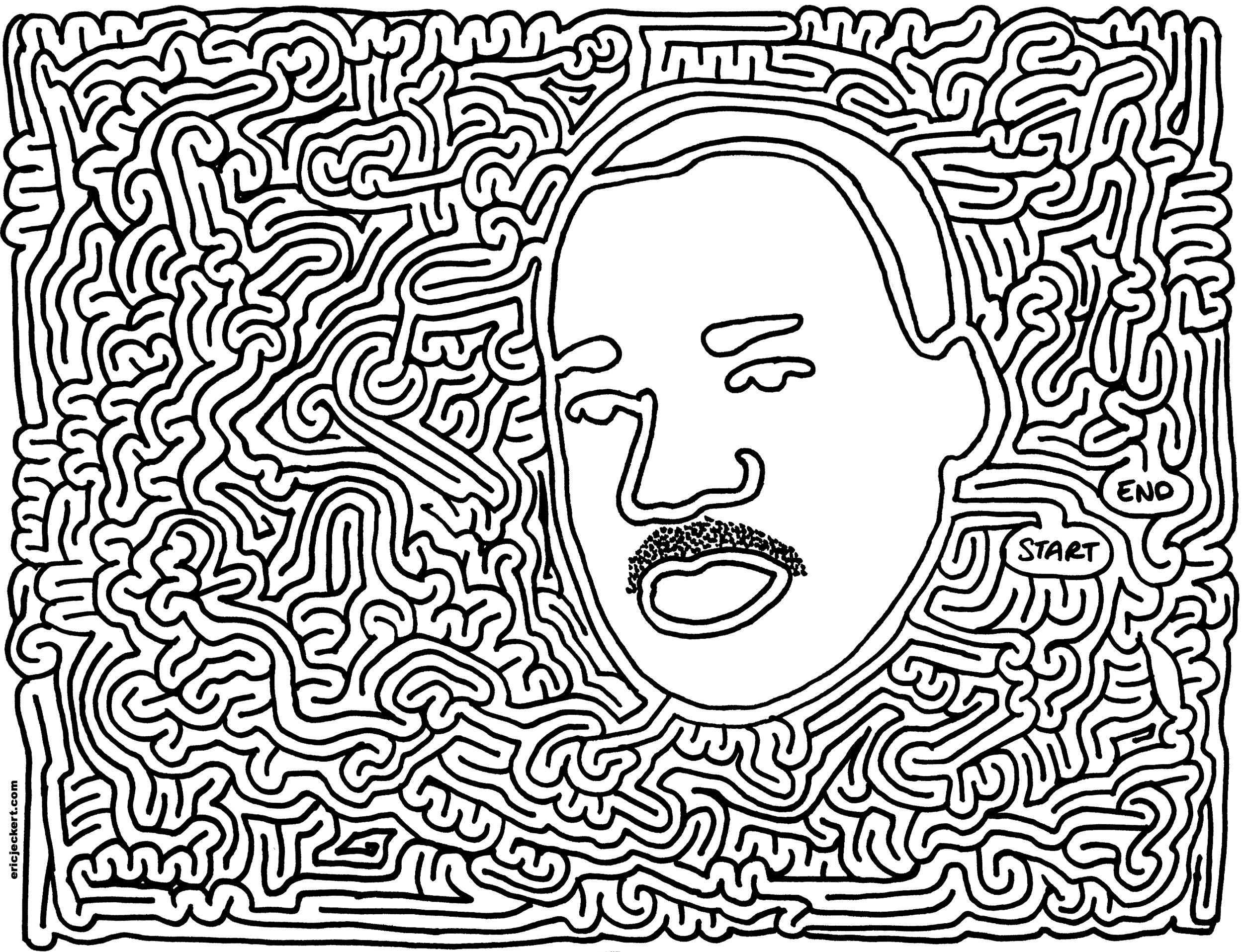 Moderno Martin Luther King Para Colorear Gratis Regalo - Ideas Para ...
