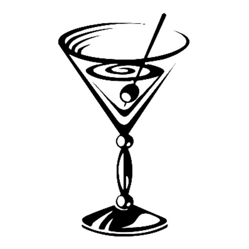 Martini Glass Drawing