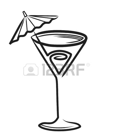 365x450 Deco Martini Glass With Olive Royalty Free Cliparts, Vectors,