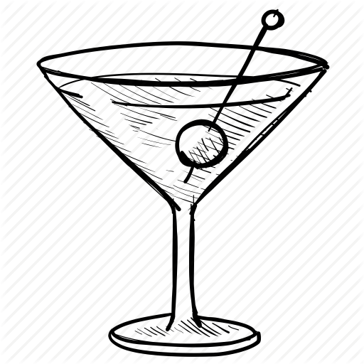 512x512 Alcohol, Drink, Glass, Martini, Olive, Party, Vacation Icon Icon