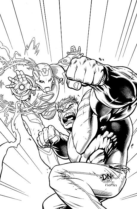 459x700 Marvel Free Comic Book Day 2007 Drawing By David Nakayama