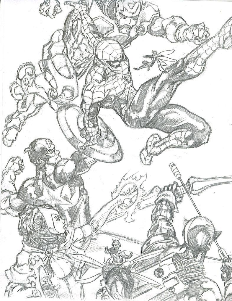 786x1017 Spidey Vs Avengers By Kevman87 By Marvel Comics Club