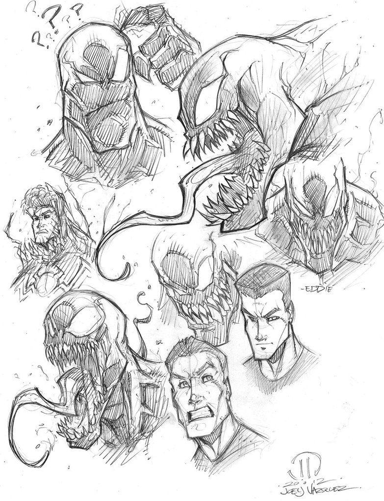 783x1020 Venom Sketches By Joeyvazquez On Marvel Comics