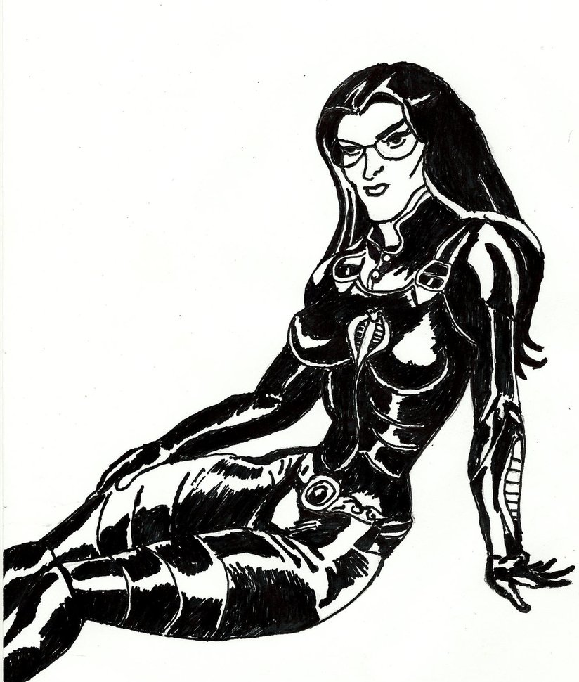 824x970 Classic Gi Joe Marvel Comics Baroness Ink Sketch By Lovefistfury