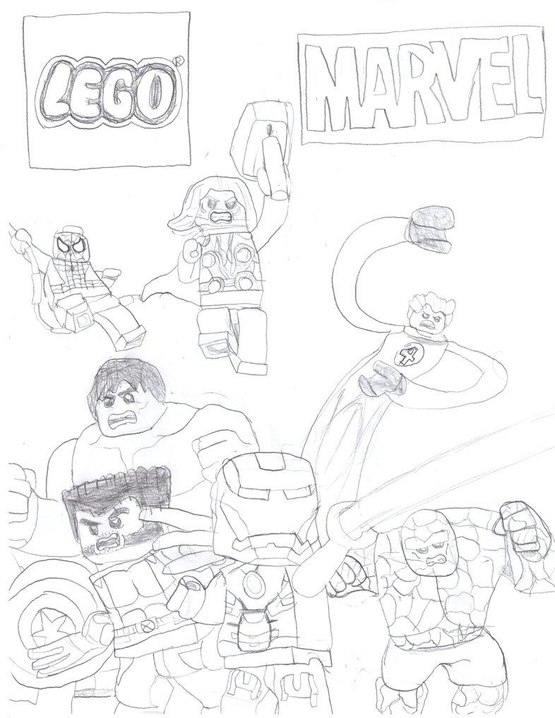 786x1017 Lego Marvel Superheroes By Homer311