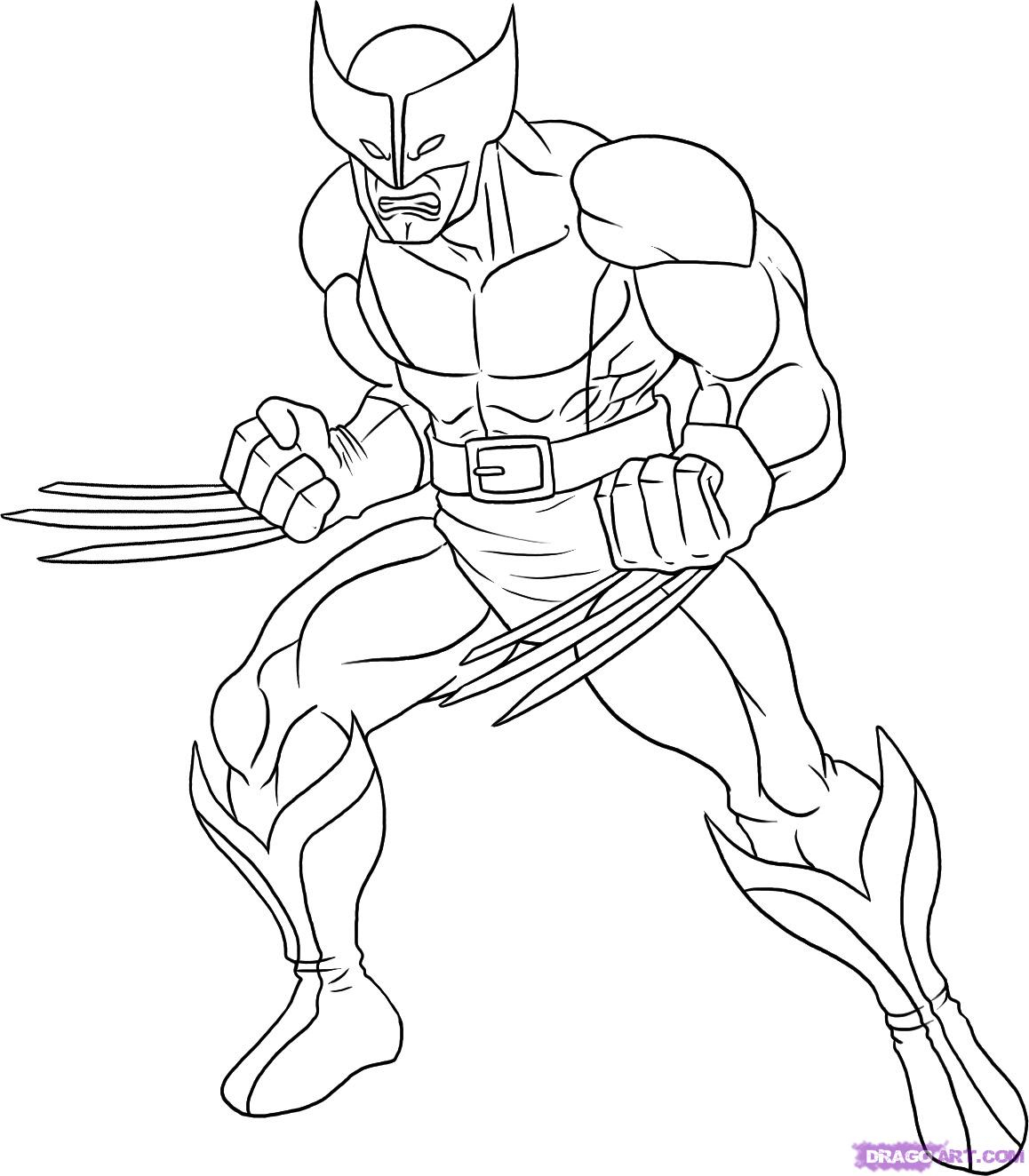 1158x1324 Wolverine Cartoon Drawing How To Draw Wolverine, Step By Step
