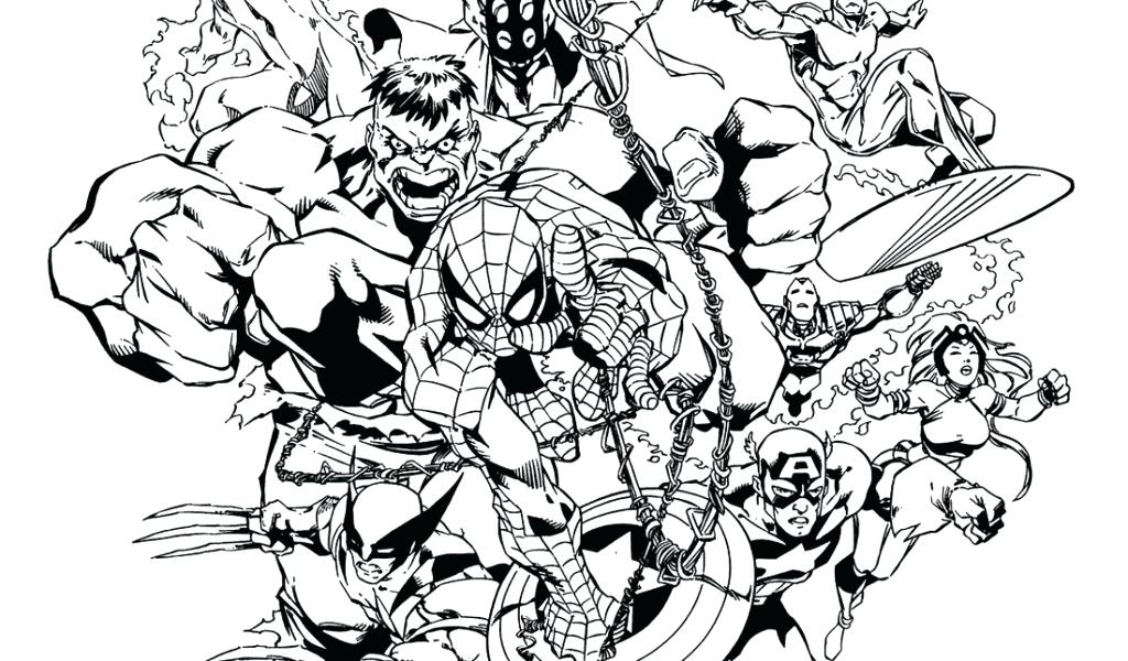 1024x600 Coloring Pages Marvel