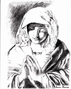 241x300 Mary Mother Of Jesus Drawings