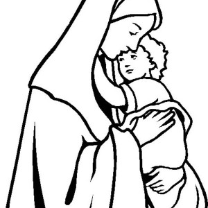 300x300 Picture Nativity Of Baby Jesus Coloring Page Kids Play Color