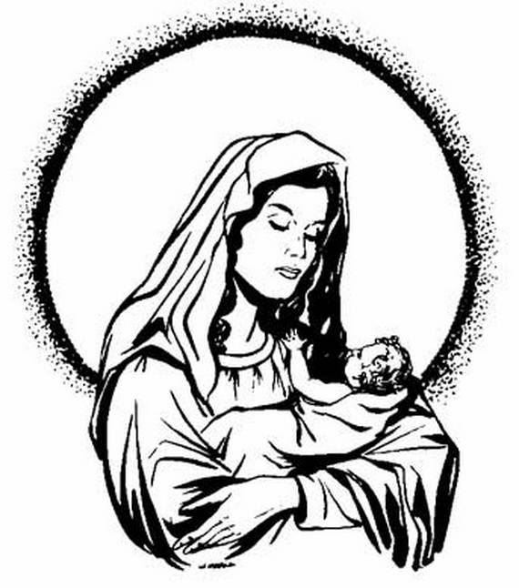 570x646 Use Our Assumption Of The Blessed Virgin Mary Coloring Pages