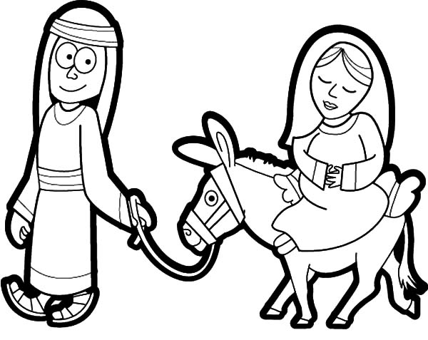 600x477 Drawing Mary And The Donkey Coloring Pages Best Place To Color