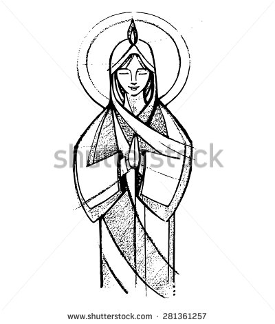400x470 Image Subscriptions Virgin Mary, Hand Drawn And Drawings