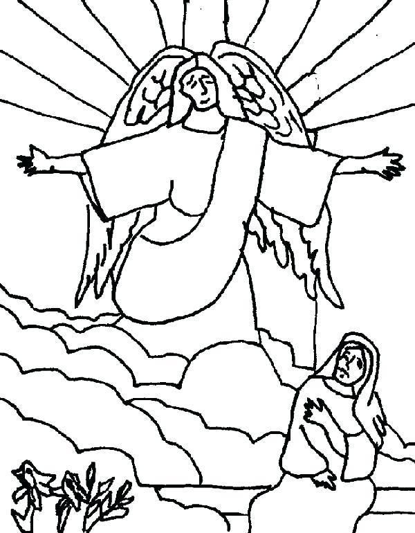 600x770 Mary Mother Of Jesus Coloring Pages Plus Kids Drawing Angel