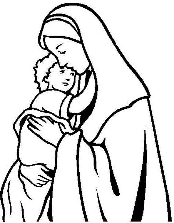 570x730 Use Our Assumption Of The Blessed Virgin Mary Coloring Pages