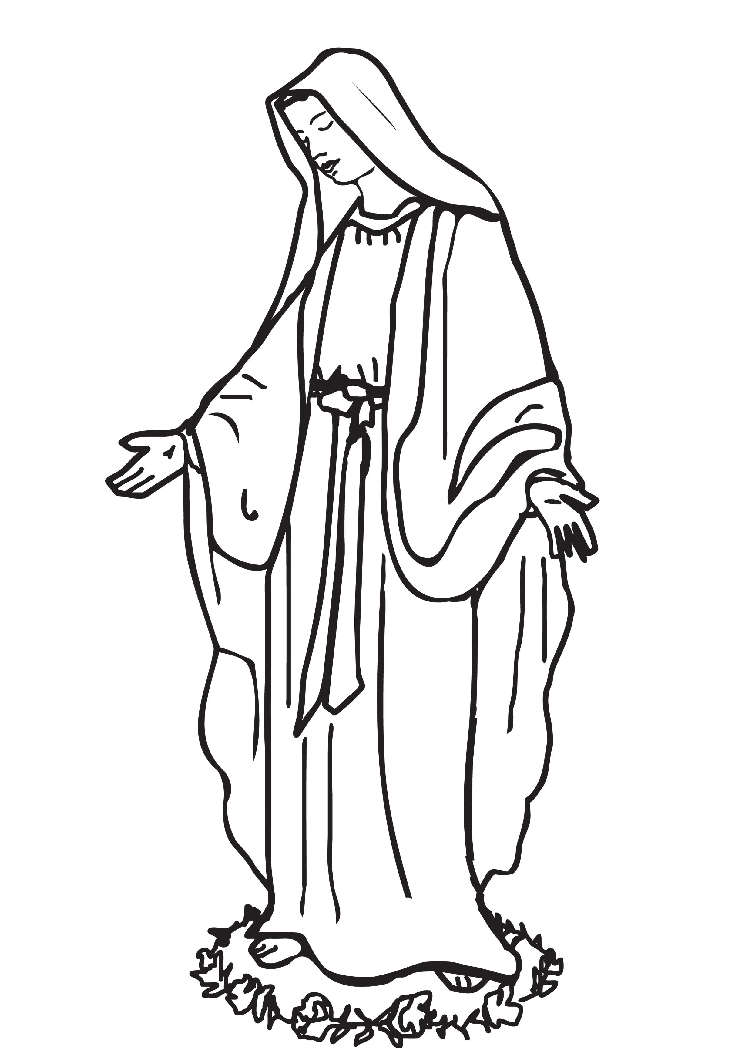 2480x3508 Coloring Picture Of Saint Mary Saint Mary Mother Of God