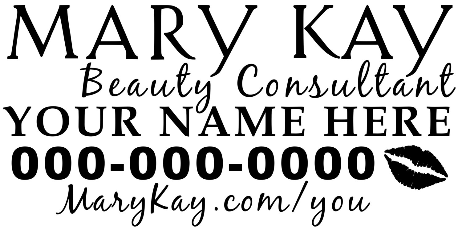 1500x746 Mary Kay Beauty Consultant Car Decal 12 Your Name