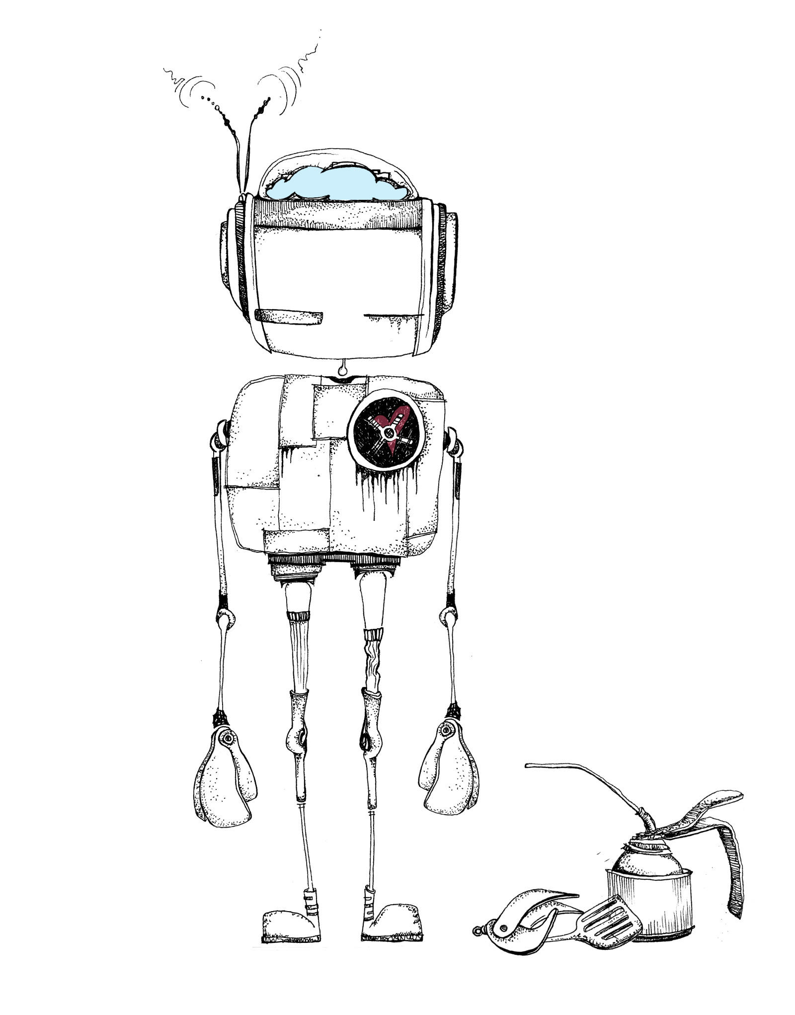 1600x2042 To Draw A Robot
