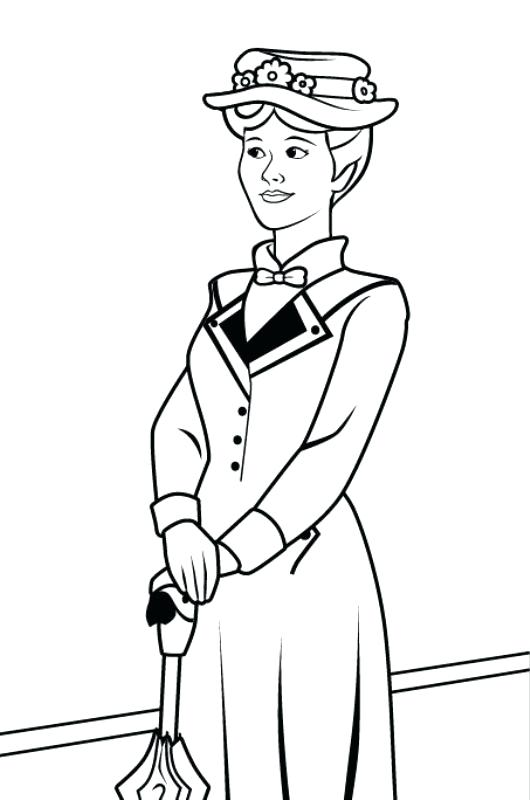 530x800 Mary Poppins Coloring Page Mary Poppins Coloring Pages Free