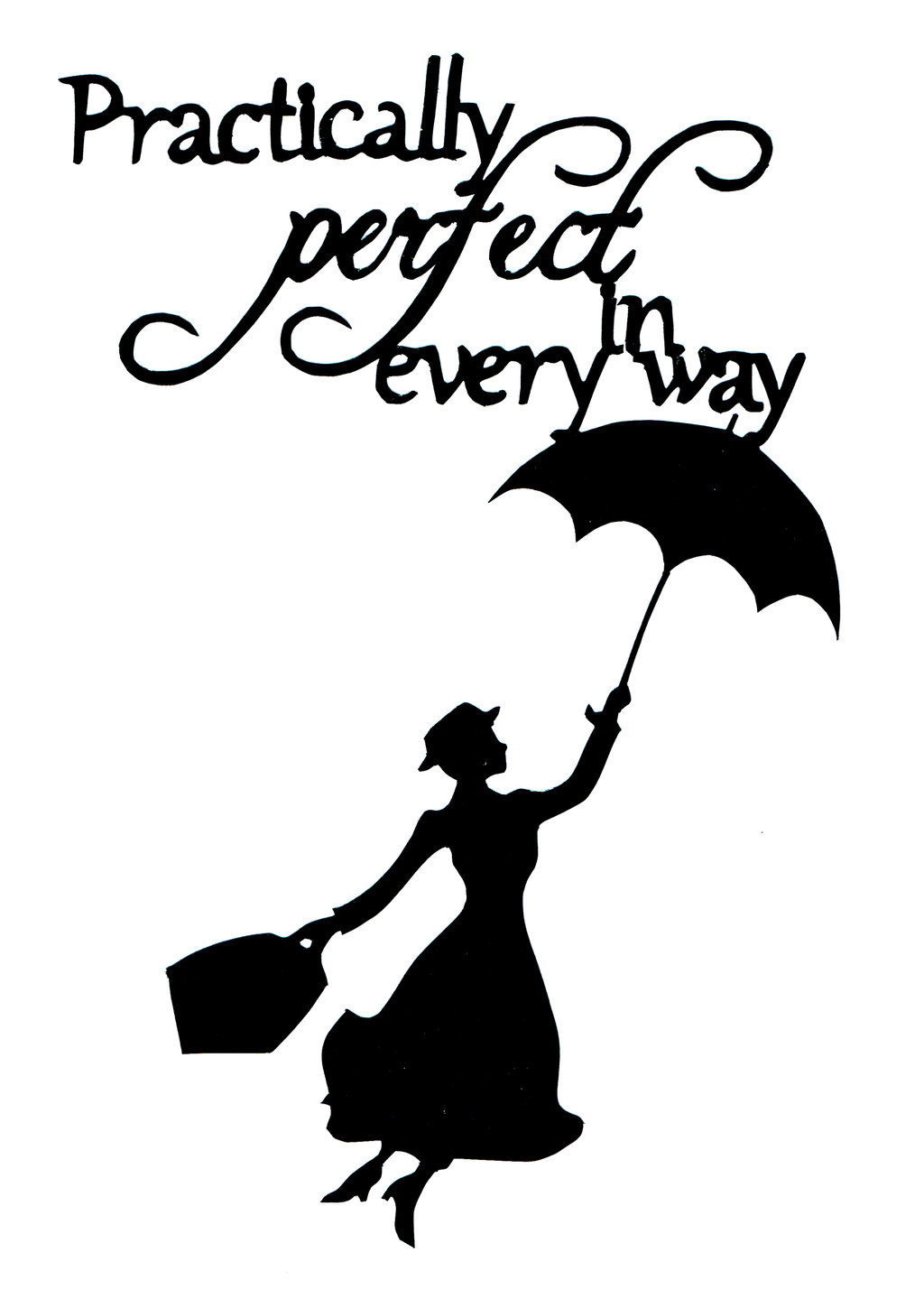 1024x1439 Mary Poppins Paper Cut Out Art Quote By Annvasart