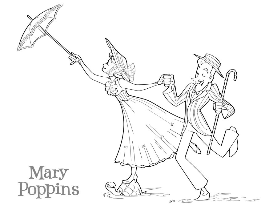 900x695 Mary Poppins Coloring Page By Betterthanbunnies