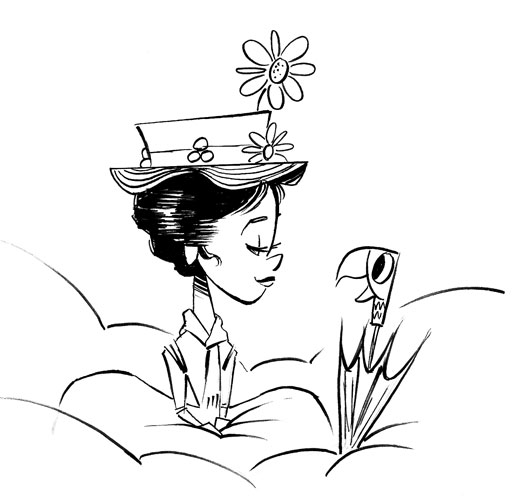 513x504 Paul O'Flanagan Art Blog Mary Poppins Sketch