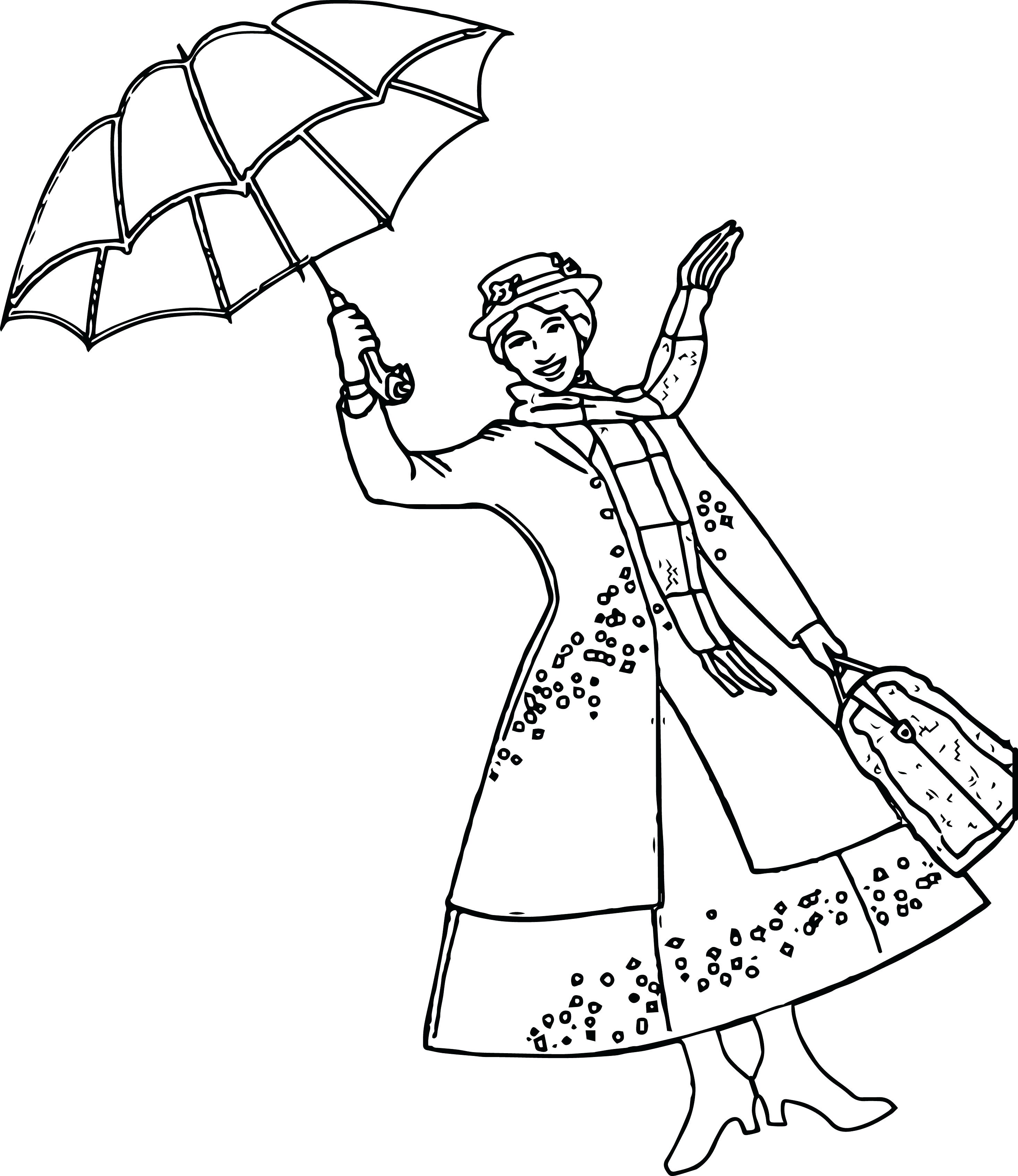 2934x3389 Coloring Mary Poppins Coloring Page
