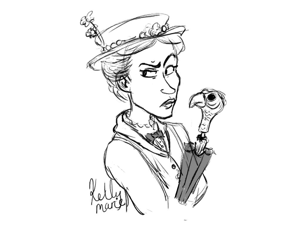 1024x768 Mary Poppins Art Of Kelly Marie
