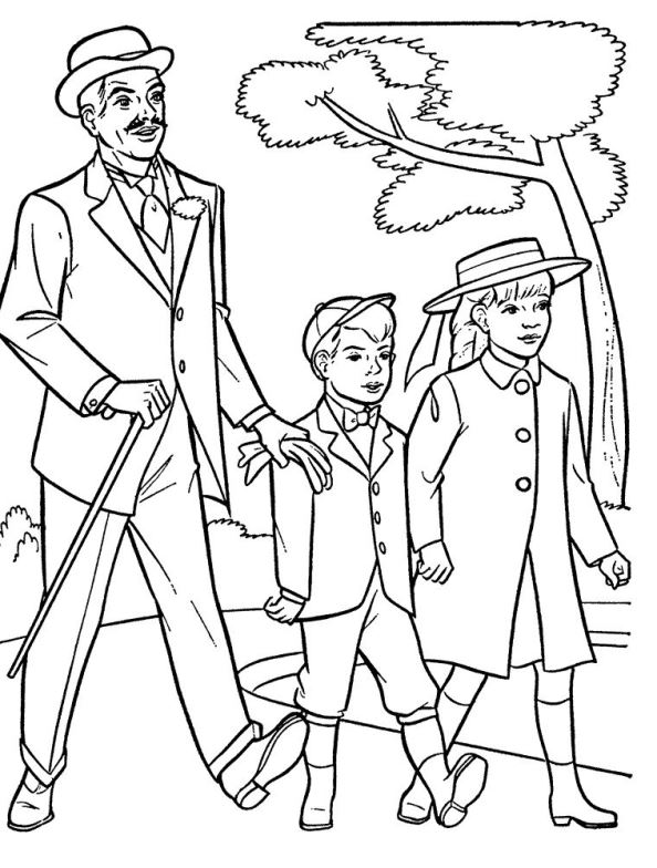 594x784 Kids N 17 Coloring Pages Of Mary Poppins