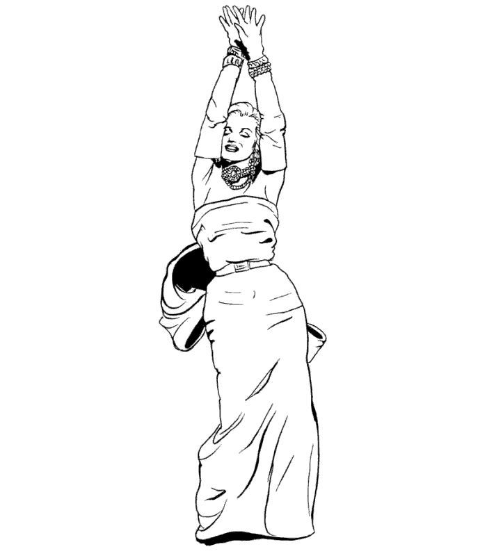 700x800 Marilyn Monroe Coloring Pages