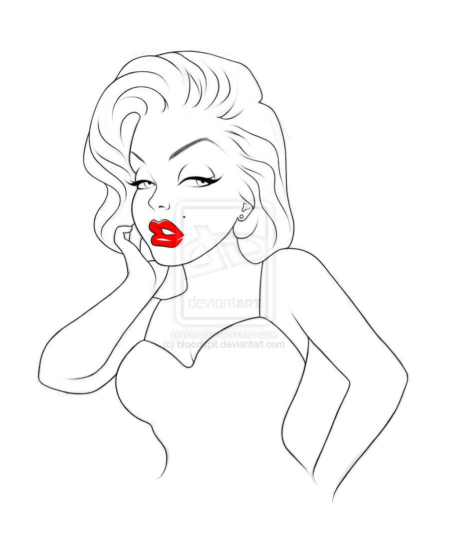 900x1085 Marilyn Monroe Drawing By Bloodspit On Marilyn