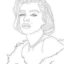 220x220 Marylin Monroe Coloring Pages