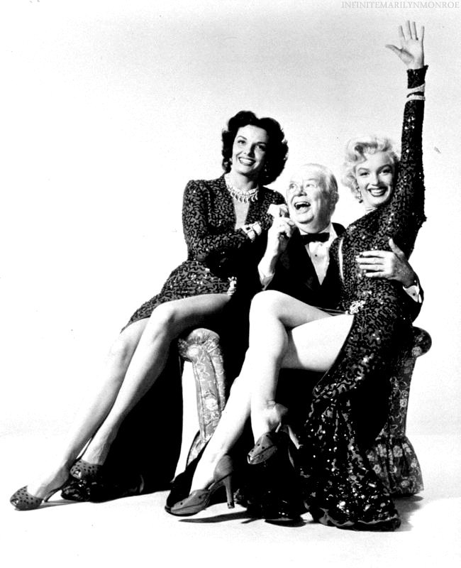 650x800 Marilyn Monroe, Jane Russell, And Charles Coburn Photographed By