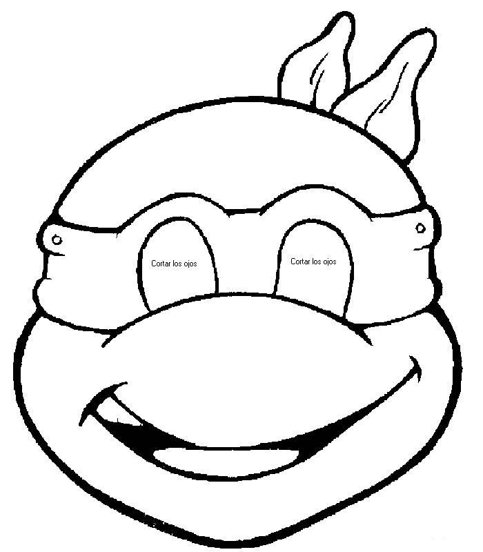 700x800 Resultado De Imagen Para Mascara De Tortuga Para Imprimir