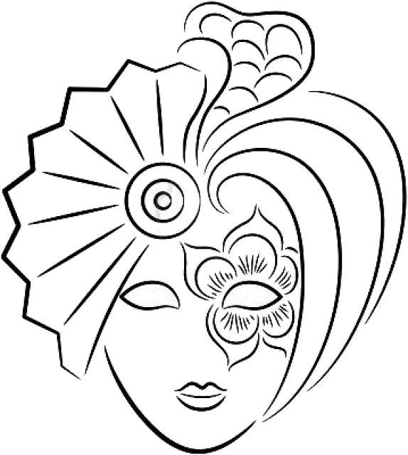 574x640 Dibujos Y Plantillas Para Imprimir Mascaras Venecianas