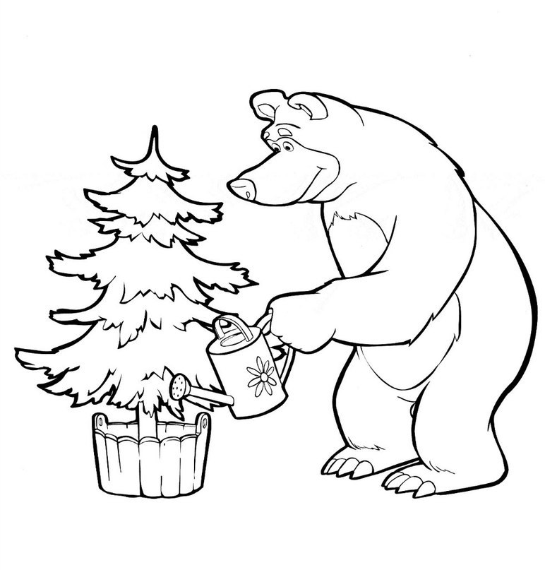 772x807 Masha And Bear Coloring Pages