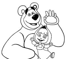 236x209 Masha And The Bear Coloring Pages 7 Coloring Pages